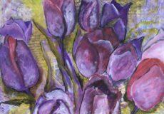 Tulipaner i lilla